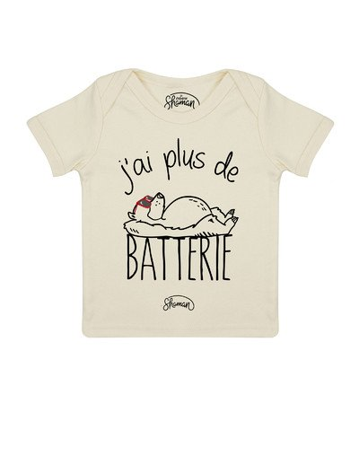 Tee shirt J'ai plus de batterie