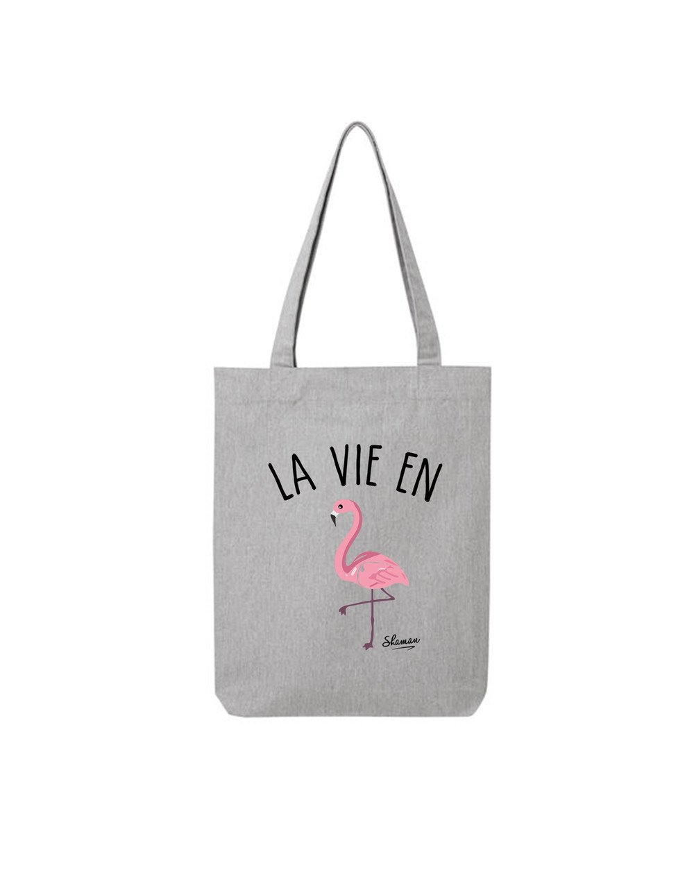 "Tote Bag ""La vie en rose flamant"""
