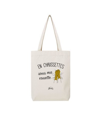 """Tote Bag """"Chaussette couette"""""""