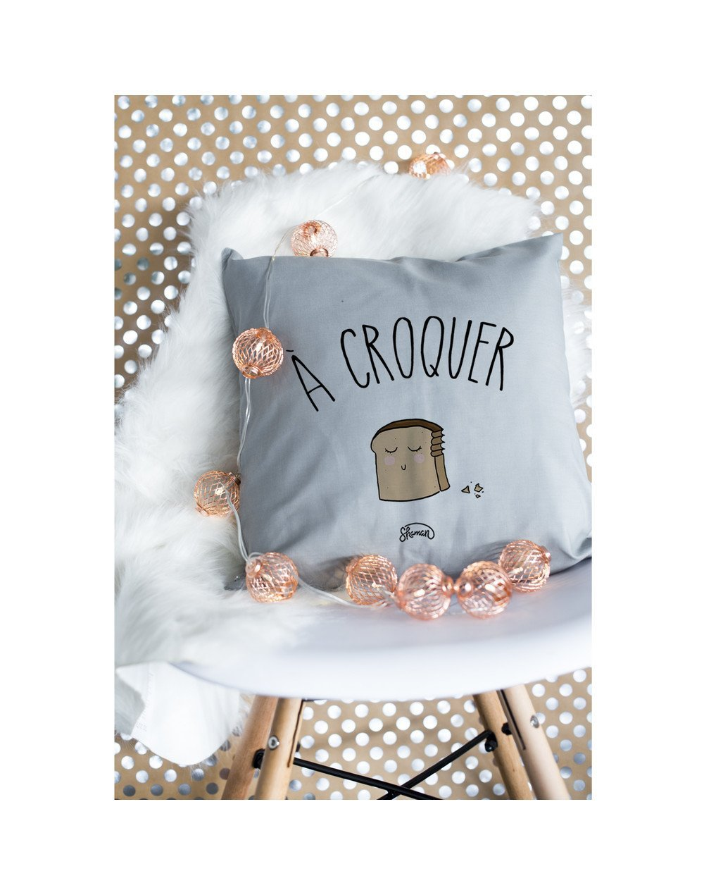 "Coussin ""A croquer"""