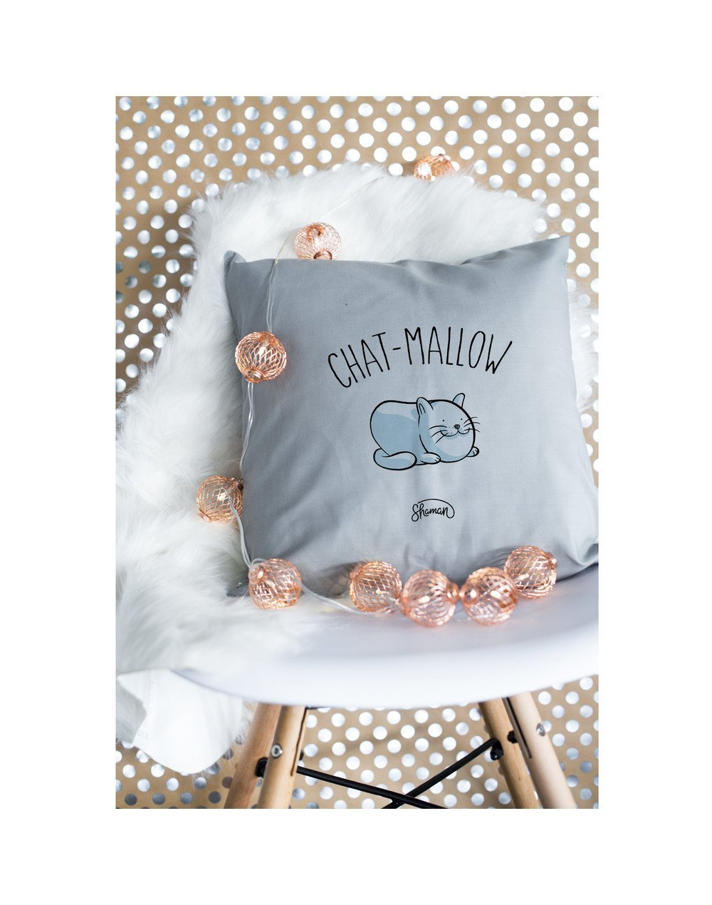 """Coussin """"chat mallow"""""""