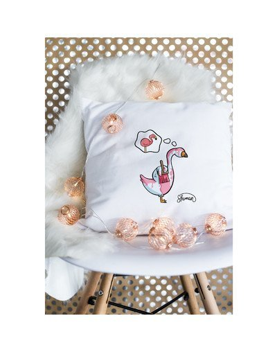 "Coussin ""cygne rose"""