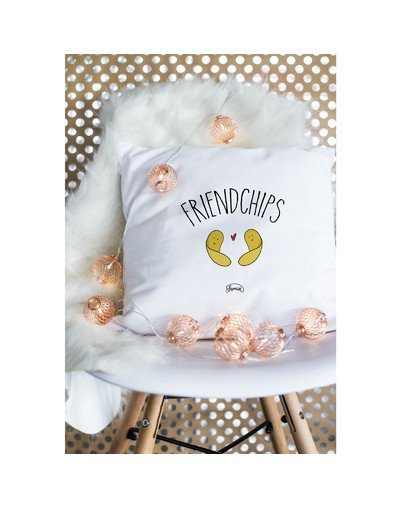 "Coussin ""friend chips"""