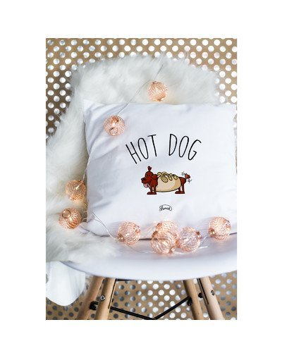 "Coussin ""Hot dog"""
