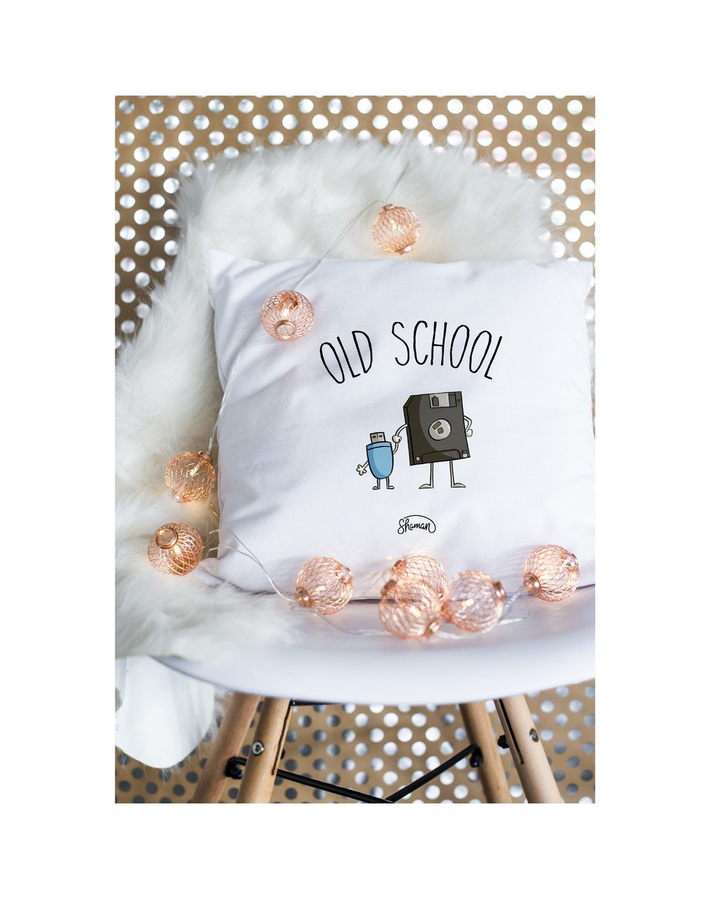 """Coussin """"old school"""""""