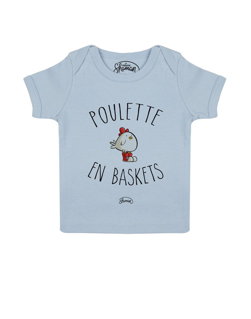 Tee shirt Poulette en baskets
