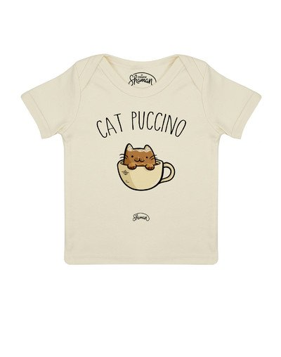 Tee shirt Cat puccino