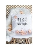 """Coussin """"Miss catastrophe"""""""