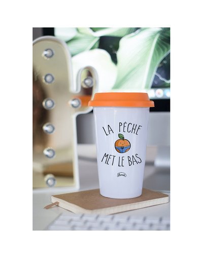 "Mugs Take Away ""Pêche met le bas"""