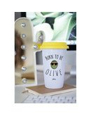 "Mugs Take Away ""Born to be olive"""