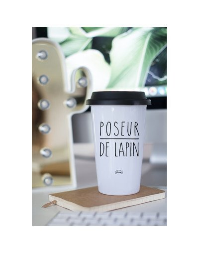 "Mugs Take Away ""poseur de lapins"""