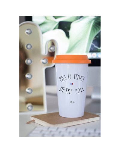 "Mugs Take Away ""Pas le temps poli"""