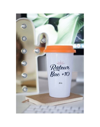 "Mugs Take Away ""Râleur bac +10"""