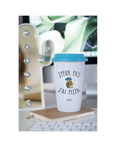 "Mugs Take Away ""J'peux pas pizza"""