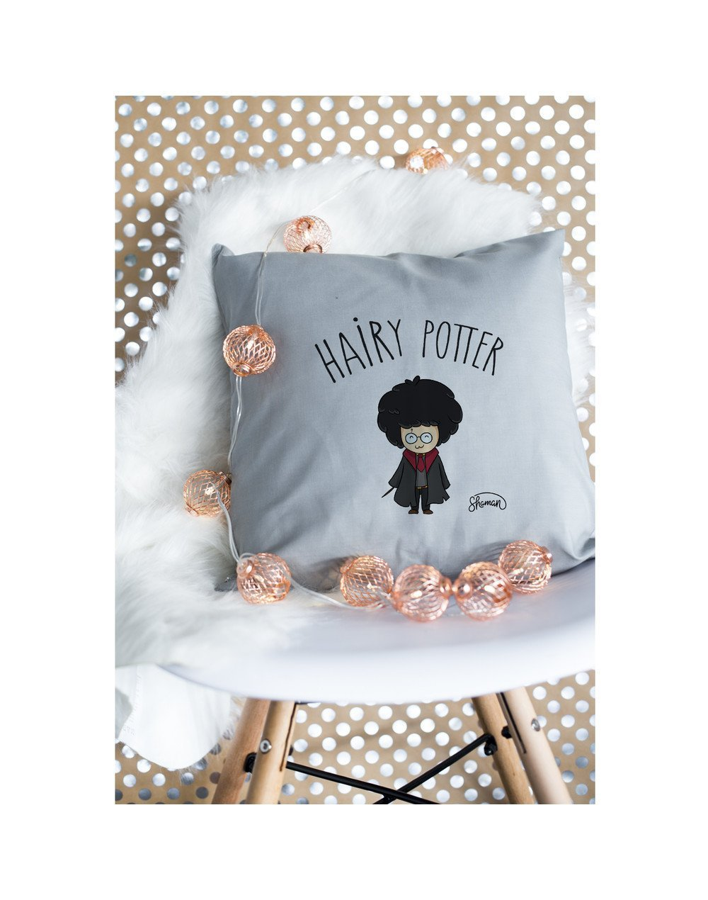 """Coussin """"Hairy potter"""""""