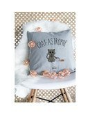 """Coussin """"Chat-astrophe"""""""