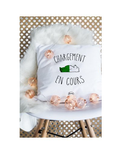 """Coussin """"Chargement"""""""