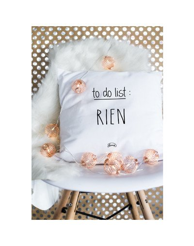 "Coussin ""To do list"""