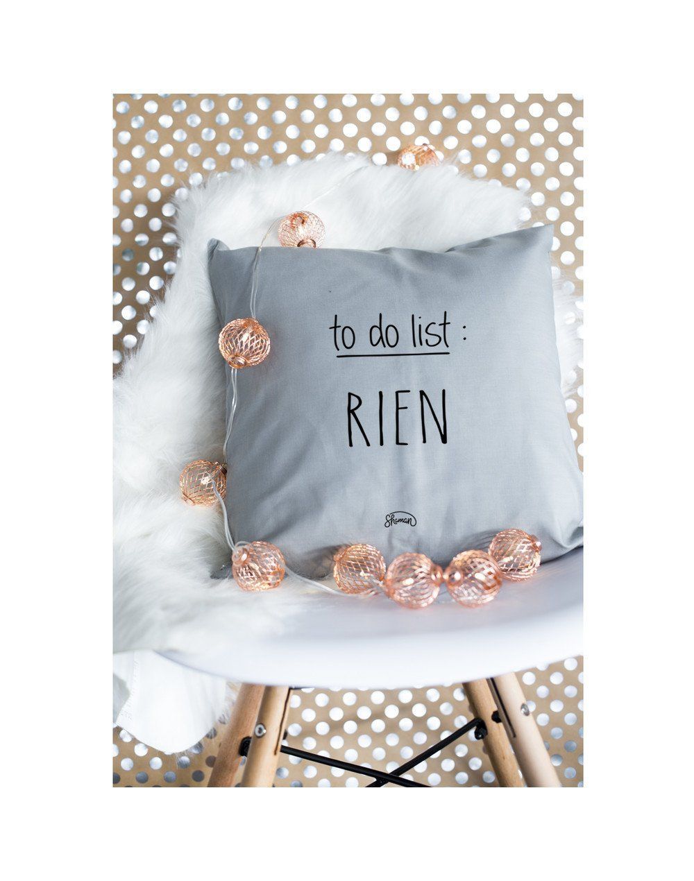 """Coussin """"To do list"""""""