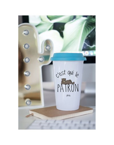 "Mugs Take Away ""C'est qui le patron"""