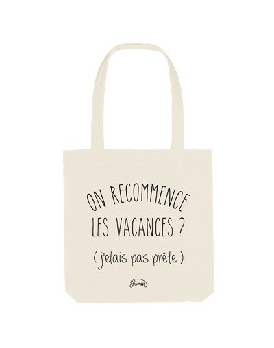 "Tote Bag ""On recommence"""