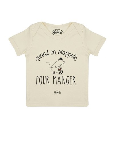 Tee shirt Quand on m'appelle ours