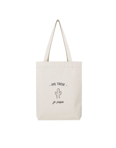 "Tote Bag ""Pas touche"""