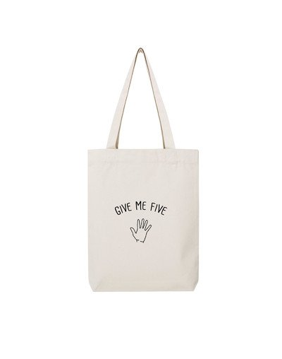 "Tote Bag ""Give me five"""