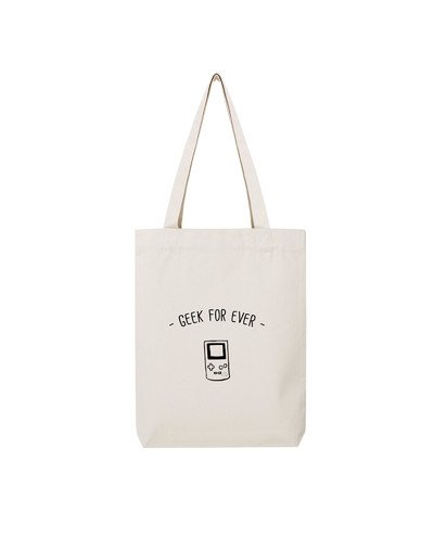 "Tote Bag ""Geek for ever"""