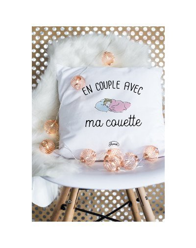 "Coussin ""Couple couette"""