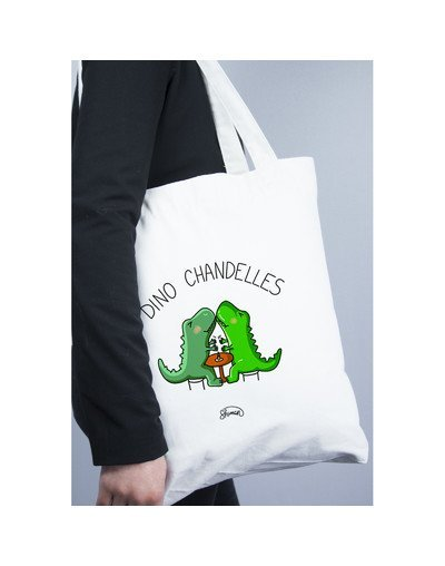 "Tote Bag ""Dino chandelle"""