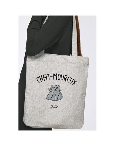 "Tote Bag ""Chat-moureux"""