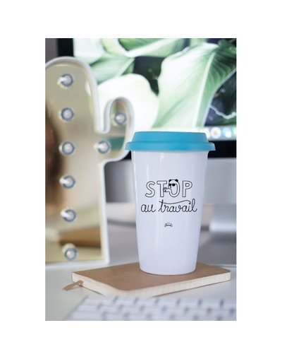 "Mugs Take away ""Stop au travail"""