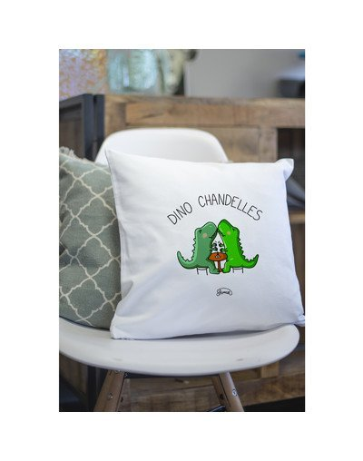 "Coussin ""Dino Chandelle"""