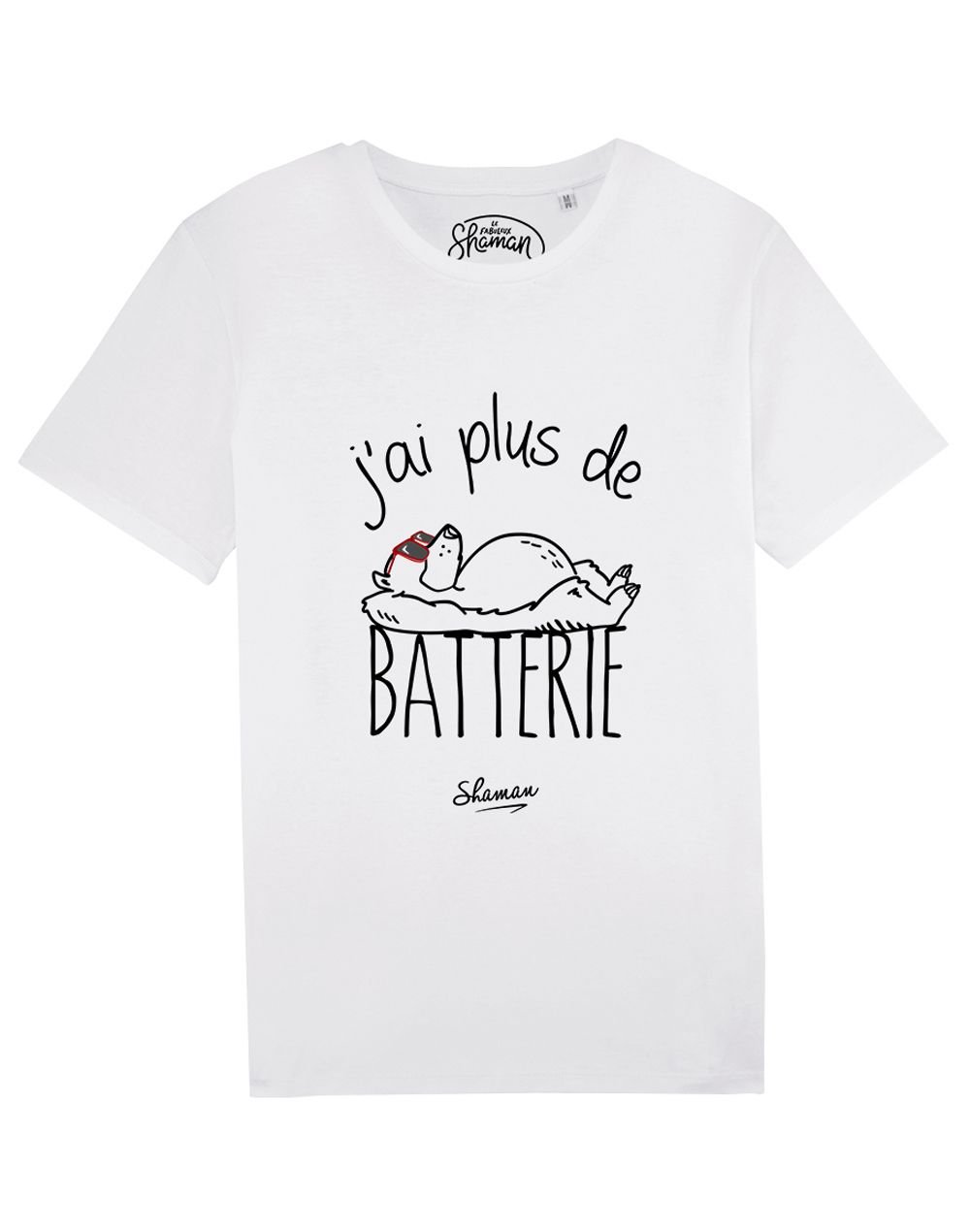 "Tee-shirt ""J'ai plus de batterie"""