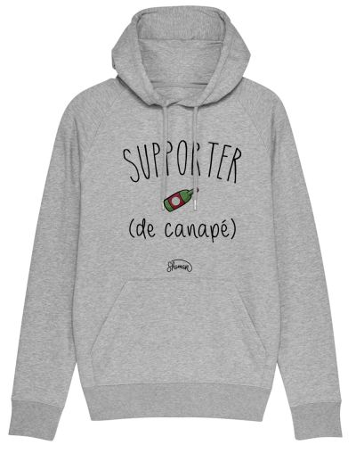 "Sweat capuche ""Supporter de canape"""