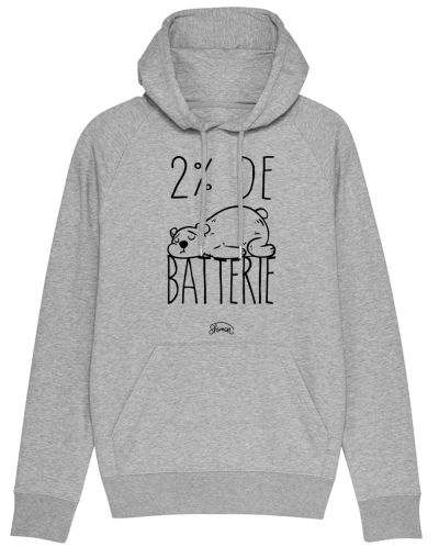 "Sweat capuche ""Batterie 2%"""