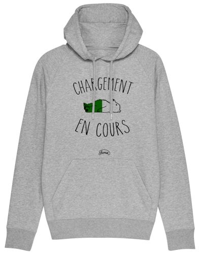 """Sweat capuche """"Chargement cours"""""""