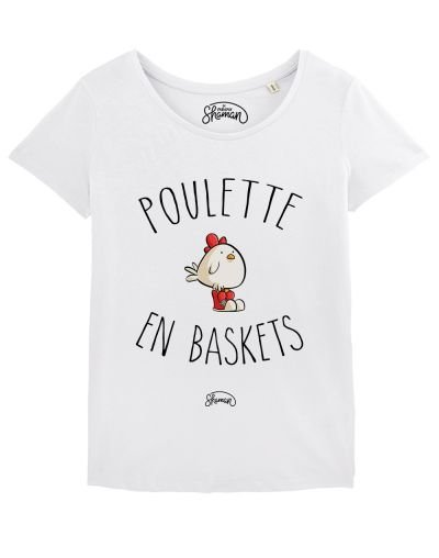 "T-shirt ""Poulette en baskets"""