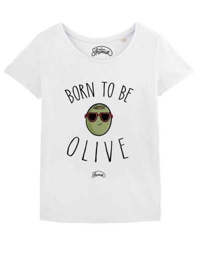 "T-shirt ""Born to be olive"""