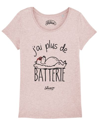 "T-shirt ""J'ai plus de batterie"""