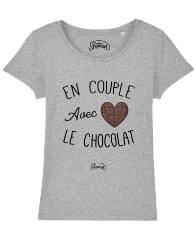 "T-shirt ""En couple avec le chocolat"""