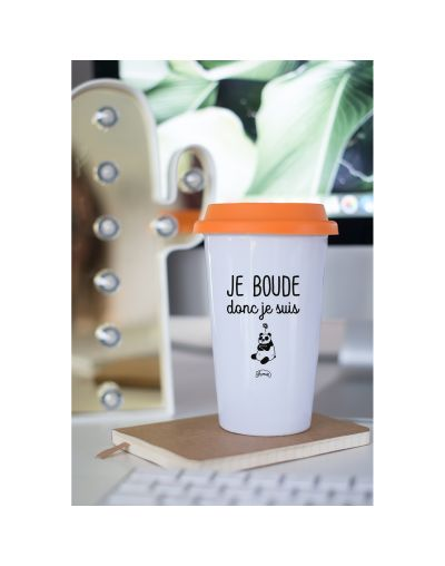 "Mug Take away ""Je boude donc je suis"""