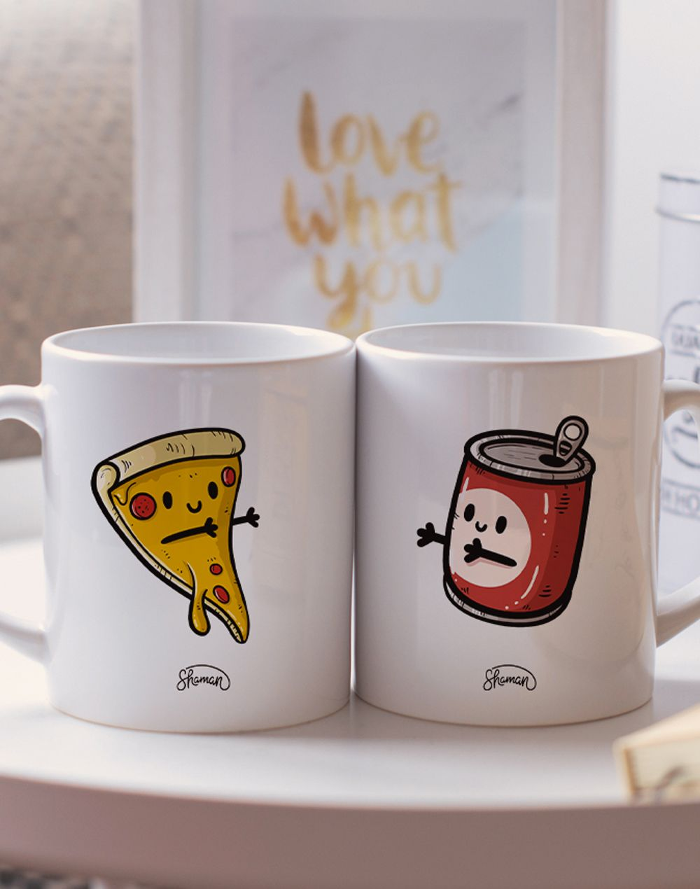 "Mugs duo ""Pizza - Canette"""