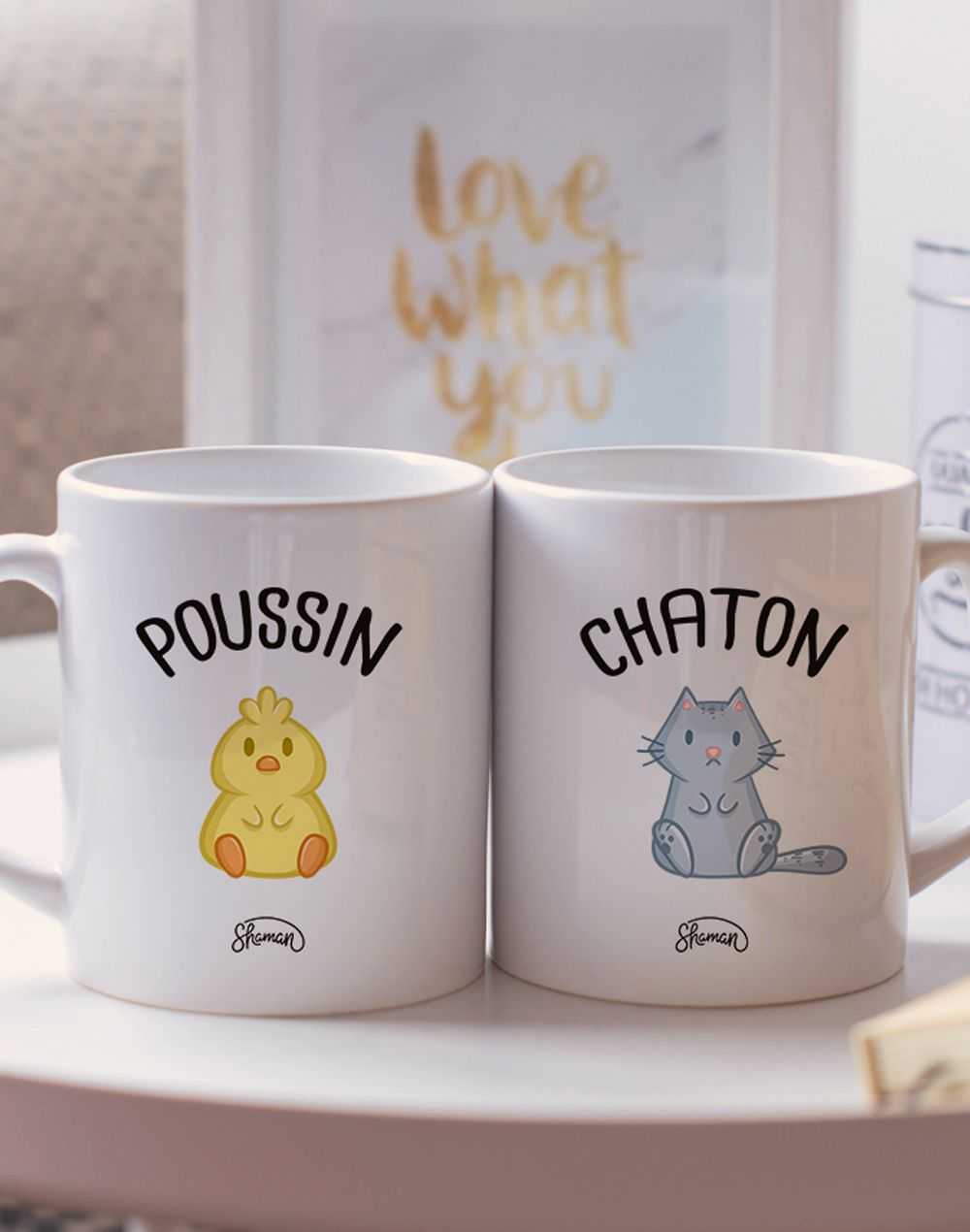 "Mugs duo ""Poussin - Chaton"""