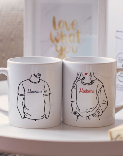 "Mugs duo ""Madame - Monsieur"""
