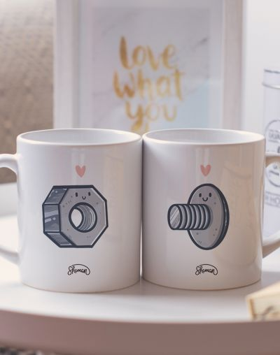 "Mugs duo ""Boulon - Vis"""