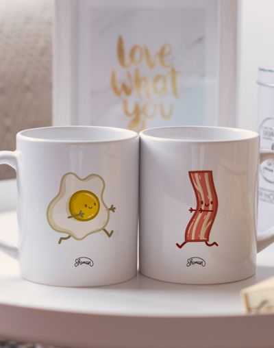 "Mugs duo ""Oeuf - Bacon"""