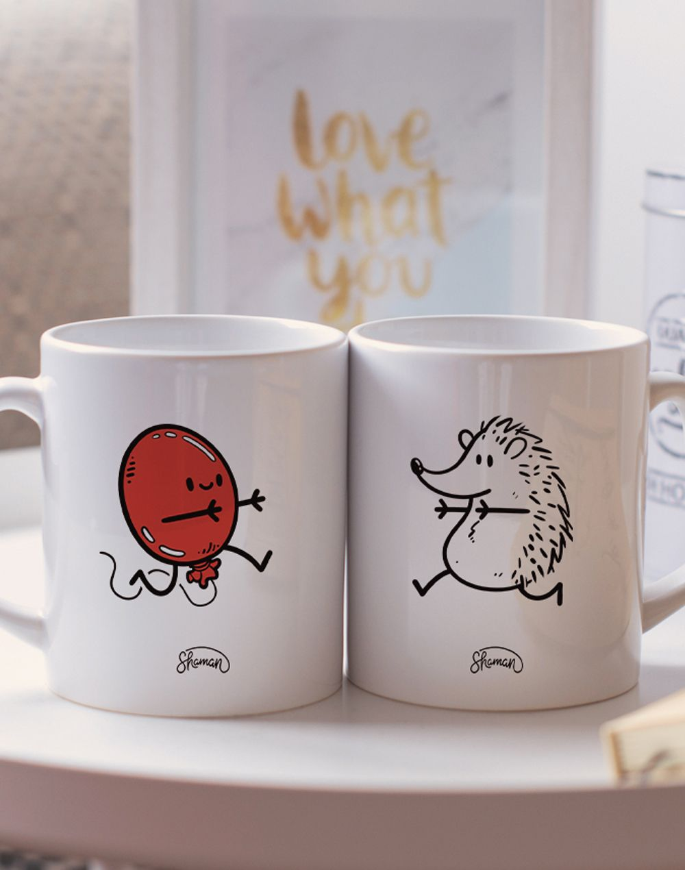 "Mugs duo ""Ballon - Hérisson"""