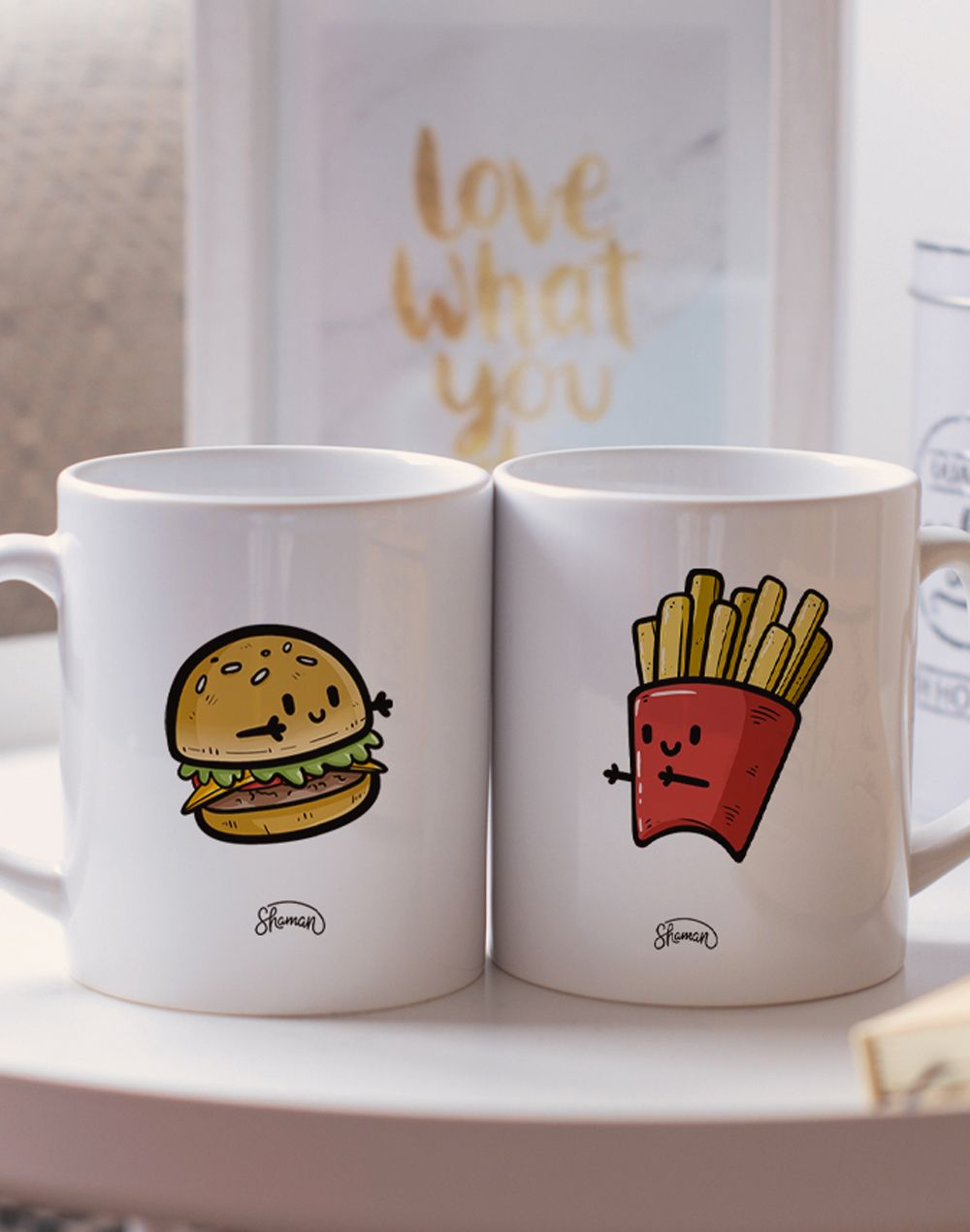 "Mugs duo ""Burger - Frite"""